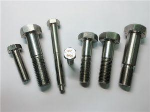 Бр.25-Инцолои а286 шестерокутни вијци 1.4980 а286 причвршћивачи гх2132 од нехрђајућег челика хардверска учвршћења машинских вијака