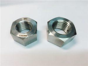 Бр.76 Дуплек 2205 Ф53 1.4410 С32750 причвршћивачи од нехрђајућег челика тешка шестерокутна матица