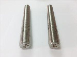 Бр.77 Дуплек 2205 С32205 причвршћивачи од нехрђајућег челика ДИН975 ДИН976 шипке са навојем Ф51