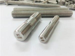 Бр. 80-дуплекс 2205 С32205 2507 С32750 1,44410 висококвалитетни хардверски причвршћивач дрвени навојни сидрени штап